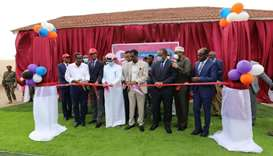 Qatari and Somali officials at the inauguration of Qatar Charity's projects in Somalia.