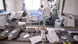 Intensive Care Unit (ICU) ward where patients infected with the COVID-19 novel coronavirus are being