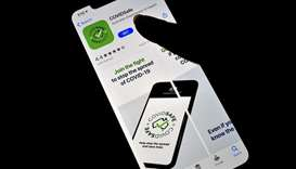 A photo illustration shows a new COVIDSafe app by the Australian government as seen on an iPhone to