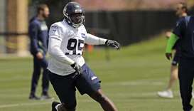 Seattle Seahawks defensive end L.J. Collier.