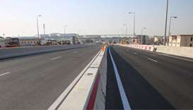 Ashghal Opens New Bridge Along Sabah Al Ahmad Corridor at Bu Hamour