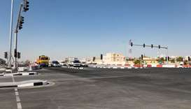 Ashghal partly opens Al Jabal Intersection on Al Wakra Main Road