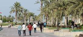 Second weekend after re-opening visitors thronged Doha Corniche