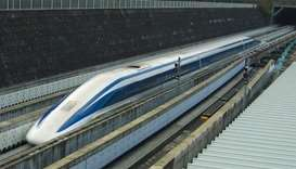 Japan  magnetic levitation train
