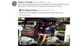 Trump tweets video of supporter yelling 'white power'