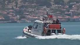Turkish coastguard rescues 35 migrants from half-sunken boat