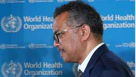 Tedros Adhanom Ghebreyesus, director-general of World Health Organization (WHO), attends a news conf