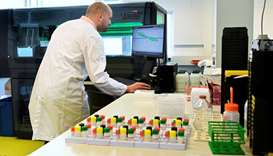 Coronavirus vaccine research: Senior technician Benoit Samson-Couterie, conducts research into antib