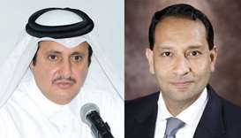 Qatar Chamber chairman Sheikh Khalifa bin Jassim al-Thani and Chamber of Commerce senior vice presid
