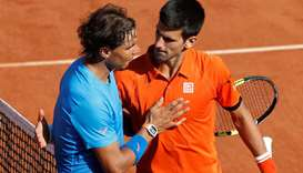 Rafael Nadal and Novak Djokovic.