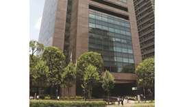 Toyota Motor's Tokyo office building. Toyota is teaming up with five Chinese companies including Bei
