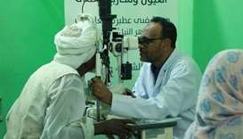 Treatment of eye diseases in Atbara (Sudan).