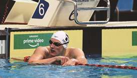 Mack Horton reacts after failing to qualify in the men's 400m freestyle final on first day of the Au