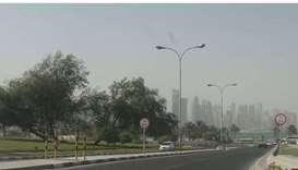 Met warns of strong winds, dust and poor visibility Saturday