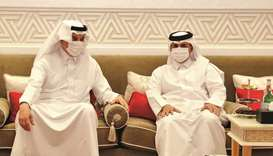 During the meeting, they reviewed aspects of co-operation between Qatar and Saudi Arabia and ways of