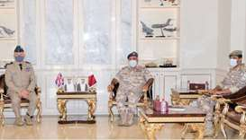 During the meeting, they reviewed aspects of military co-operation between the two countries and mea