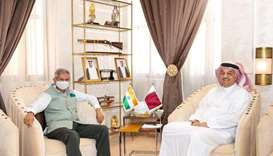 Minister of State for Defense meets Indian External Affairs Minister