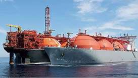 The quantities of liquefied gas exported from Qatar in future will equal Iraqi and Kuwaiti oil expor