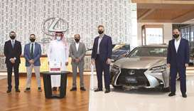 The draw took place on June 7 at the Lexus Showroom under the supervision of a representative from t