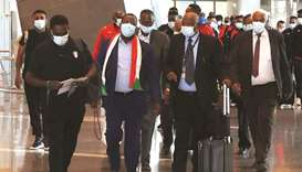 The Sudan squad and officials landed in Doha on Wednesday to take part in the FIFA Arab Cup qualifie