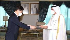 Minister of State for Foreign Affairs receives copy of credentials of Korean Ambassador
