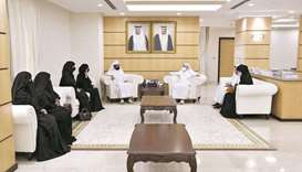 HE the Minister of Education and Higher Education Dr Mohamed Abdul Wahed al-Hammadi with the first g