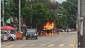 Blasts kill two near office of party backed by Myanmar army