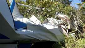 A small plane crashed