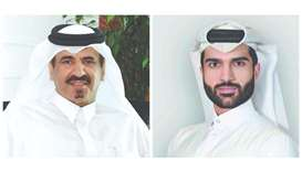 QC first vice-chairman and chairperson of Education Committee, Mohamed bin Twar al-Kuwari, left, and