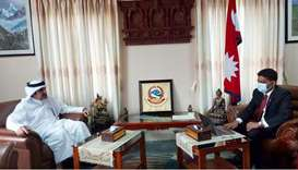 Nepalese Deputy Prime Minister and Minister of Foreign Affairs meets Qatar's Ambassador