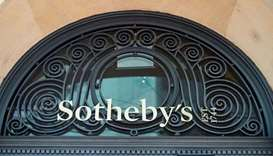 A logo is pictured on Sotheby's in Geneva, Switzerland. Reuters/ file photo