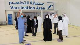 Minister of Public Health visits the new Qatar vaccination center for Business and Industry Sector