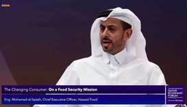 Hassad Food chief executive Mohamed Badr Hashem al-Sadah addressing one of the sessions at the third
