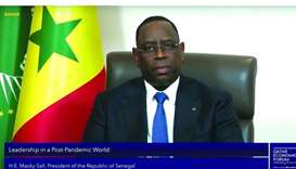 President of the Republic of Senegal Macky Sall participating in the QEF session.