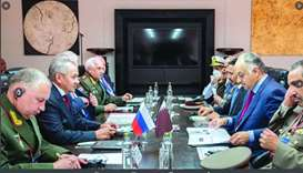 Deputy Prime Minister and Minister of State for Defense Affairs meets Russian Defense Minister