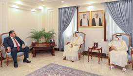 During the meeting, they reviewed relations between the two countries, as well as ways to enhance an