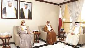 Minister of Municipality and Environment and Acting Minister of State for Cabinet Affairs meets with