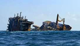 Container ship MV X-Press Pearl sinks after burning for almost two weeks outside Colombo's harbour o