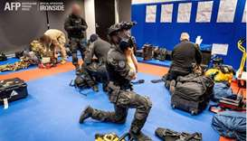 Australian Federal Police are seen during its Operation Ironside against organised crime. Australian
