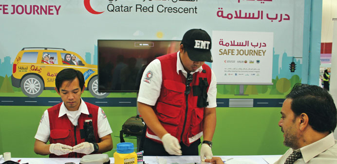 Free blood testing at the event.