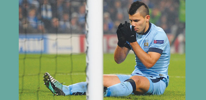 File picture of Manchester City striker Sergio Aguero.