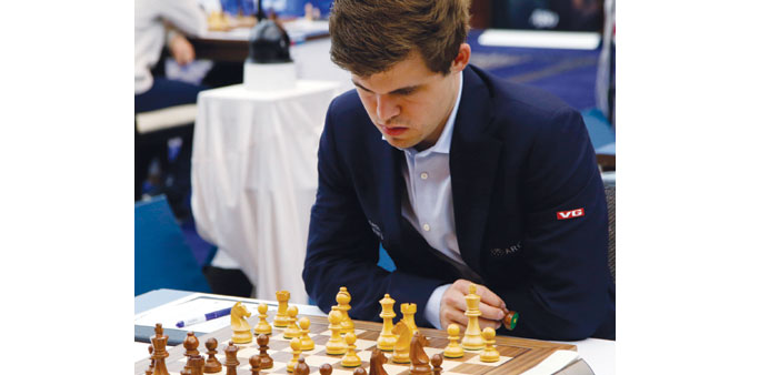 Magnus Carlsen beat GM Li Chao to move clear of the field in Qatar.