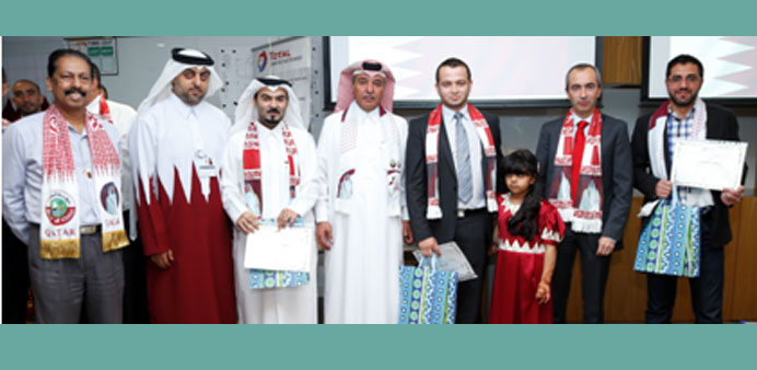 Participants of the 'My Qatari Space' competition at the award presentation.