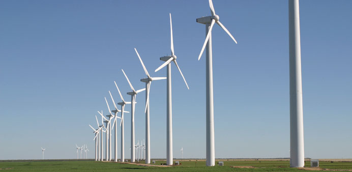 Renewable energy sources, like these wind turbines, can help stabilise energy prices in the long ter