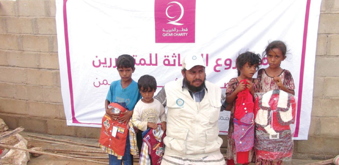 Children's clothes were given away as part of the campaign.