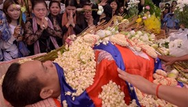 Hundreds join funeral of murdered Cambodian critic