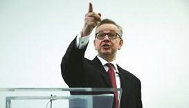 Gove denies treachery, pitches to be next premier
