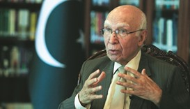 Sartaj: Moving too fast against rebels could lead to 'blowback'