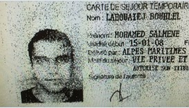 The ID card of Mohamed Lahouaiej Bouhlel recovered from the scene of attack