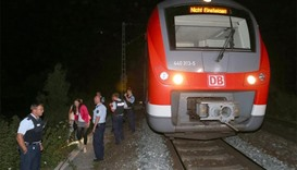 Police at the scene of German train attack.